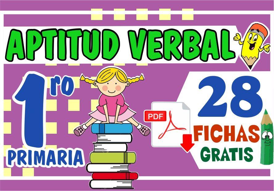 Fichas de Aptitud Verbal para Niños de Primer Grado de Primaria