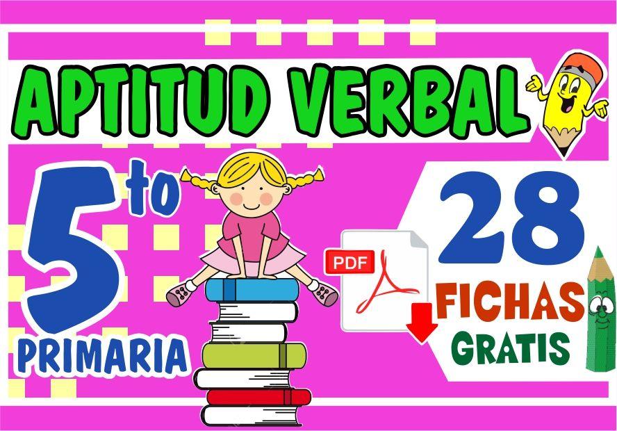 Separatas de Aptitud Verbal para Niños de Quinto Grado de Primaria