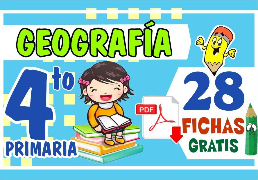 Fichas de Geografía para Niños de Cuarto Grado de Primaria
