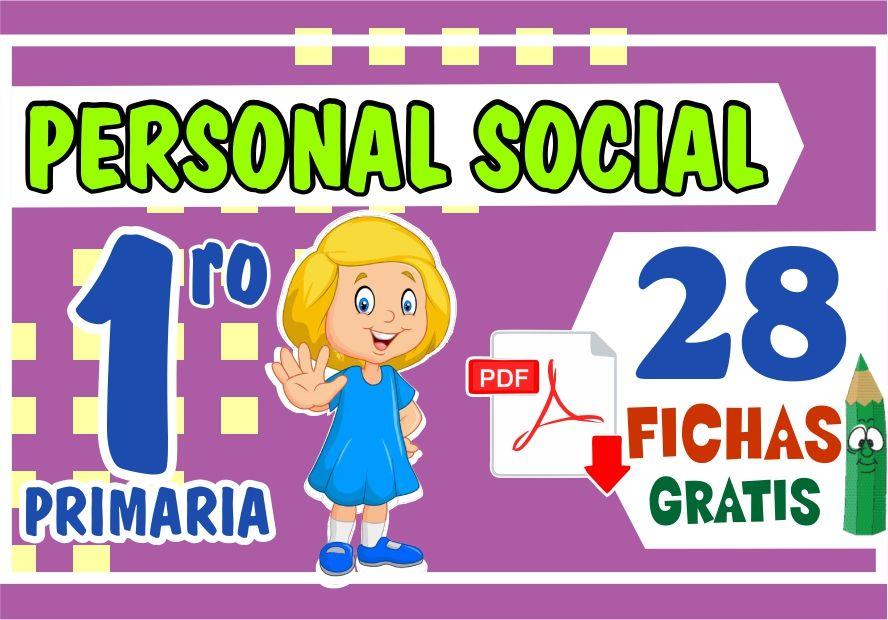 Fichas de Personal Social para Niños de Primer Grado de Primaria