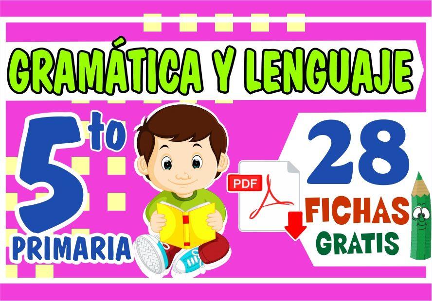 Separatas de Gramatica y Lenguaje para Niños de Quinto Grado de Primaria